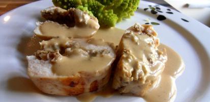 Filet de poulet et duxelle de champi