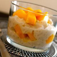 Riz au lait mangue