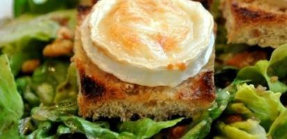 Salade chevre miel jambon bayonne