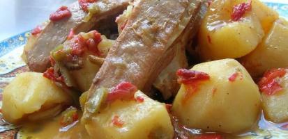Saute agneau poivrons et cannelle
