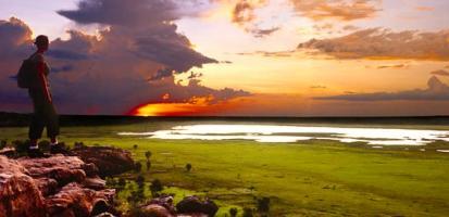 Coucher de soleil kakadu