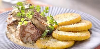 Filet de veau cremeux aux graines de moutarde