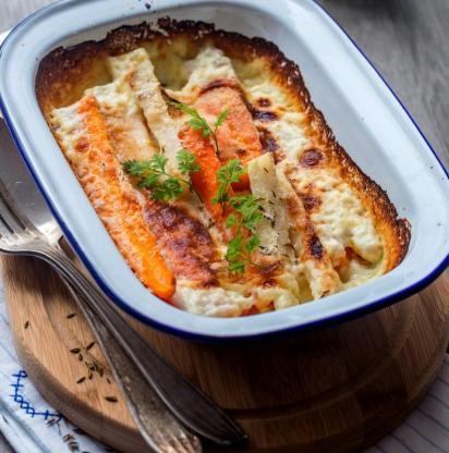 Gratin de carottes multicolores 1