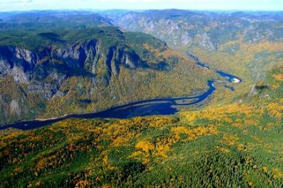 Hautes gorges de la riviere malbaie