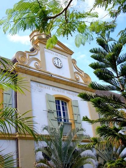 Le centre ville de saint pierre
