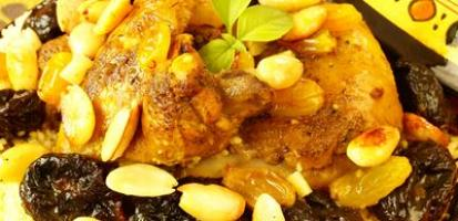 Tajine de poulet aux fruits secs 2