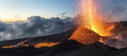 Volcan en activite